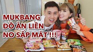 Mukbang Đồ ăn liền Việt Nam   ngon hay dở   Gia Đình Cam Cam Vlog 102