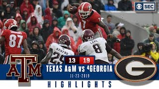 Texas A&M vs #4 Georgia Highlights: Dawgs defense stands tall to take down Aggies   CBS Sports