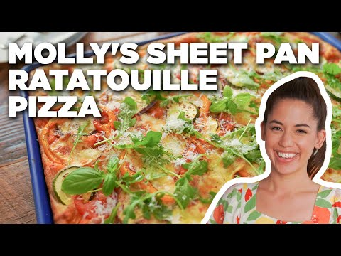 Molly Yeh's Sheet Pan Ratatouille Pizza | Girl Meets Farm | Food Network
