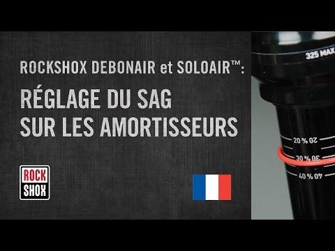 ROCKSHOX DEBONAIR et SOLO AIR: Réglage du Sag sur les amortisseurs