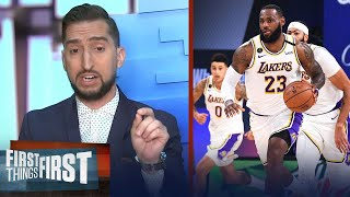 Nick Wright reacts to Nuggets win vs Lakers in Game 3, Lakers to win in 5 | NBA | FIRST THINGS FIRST