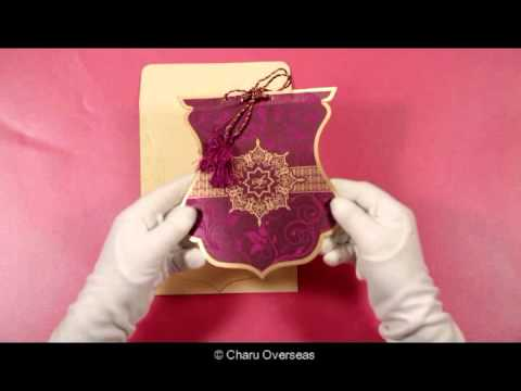 Floral themed Indian Wedding Invitations - IN-8229K - 123WeddingCards