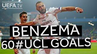 Watch all of KARIM BENZEMA's 60 #UCL goals