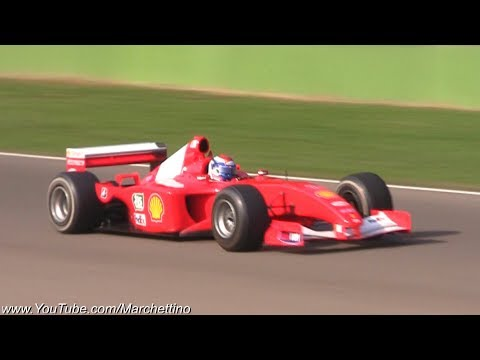 Ferrari F1 Cars in Action - AMAZING V8, V10 & V12 Sounds!