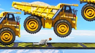 HOW MANY DUMP TRUCKS CAN A HUMAN SURVIVE? (GTA 5 Minigames)