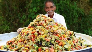 Veg Salad Recipe | Quick and Healthy Vegetable Salad | Veggie Salad Recipe by Grandpa