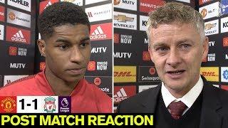 Solskjaer & Rashford look back on Liverpool draw   United 1-1 Liverpool   Premier League