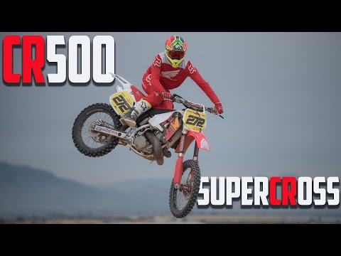 21-Year-Old Honda CR500 Does Supercross!!