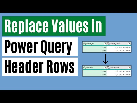 Replace Values in Table Headers in Power Query