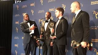 Creative Arts Emmys 2018: Winners Kenan Thompson, Chris Redd (SNL') backstage in press room