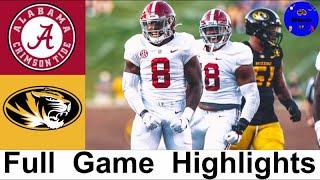 #2 Alabama vs Missouri Highlights | College Football Week 4 | 2020 College Football Highlights