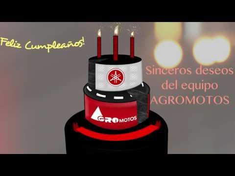 Feliz Cumpleaños - Tarjeta Animada - Agromotos Yamaha -