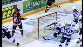 Dinamo Riga - Dynamo Moscow 2:1 03.03.2011; KHL Play-off quarter final game 6 full highlights