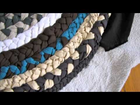 How To Create A Mat Of Waste Cloth Youtube