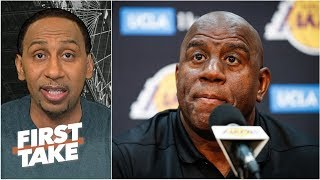 Magic Johnson 'feels betrayed by folks within the Lakers organization' - Stephen A. | First Take