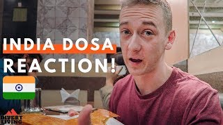 SOUTHERN Indian Food! Trying Ghee Dosa For First Time ! 🇮🇳