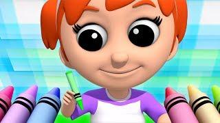 Buntstifte Farbe Lied | Farblied für Kinder | Farbreim für Kinder | Crayons Colors Song
