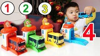 Trò Chơi Bé Bắp Học Màu Sắc Cùng Những Chiếc Xe Buýt – Đồ Chơi The Little Bus Tayo ♥ CreativeKids ♥