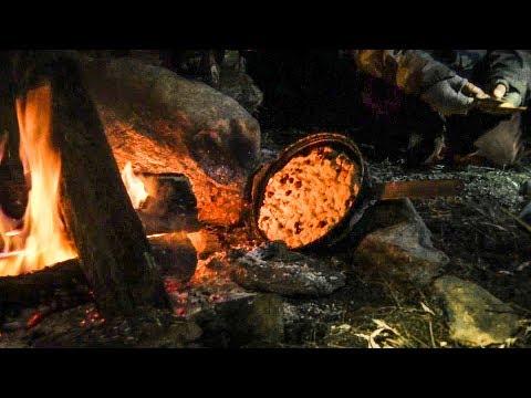 Goldenage Bushcraft Campout - Venison Stew, Onion Rings, Bannock, Chicken Soup