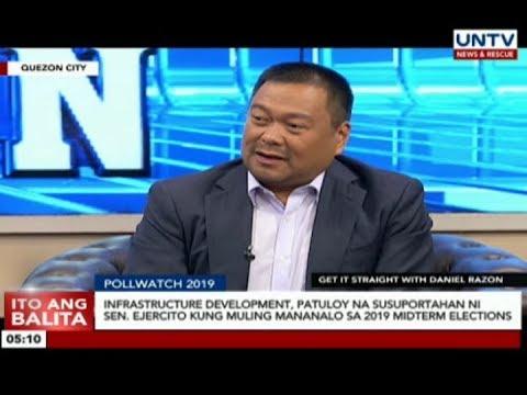 Infrastructure development, patuloy na susuportahan ni Sen. Ejercito kung mananalo sa 2019 polls
