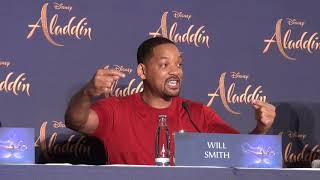 ALADDIN Press Conference Berlin - Will Smith - Naomi Scott best hilarious moments - awesome fun