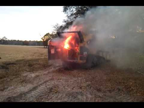 Skid Steer Fire Youtube
