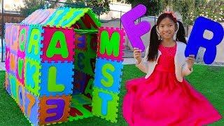 ABC Playhouse Song   Wendy Pretend Play w/ ABCs Toys & Learns the Alphabet Nursery Rhymes Songs