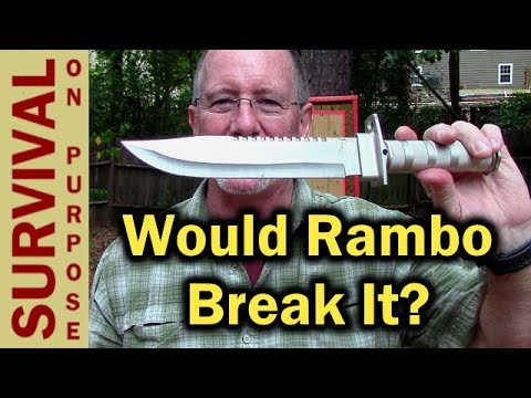 $8 Rambo Knife (Harbor Freight Survival Knife) - Will It Break?