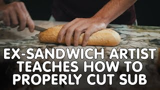 Ex-Sandwich Artist Teaches How to Properly Cut Sub | Hit105