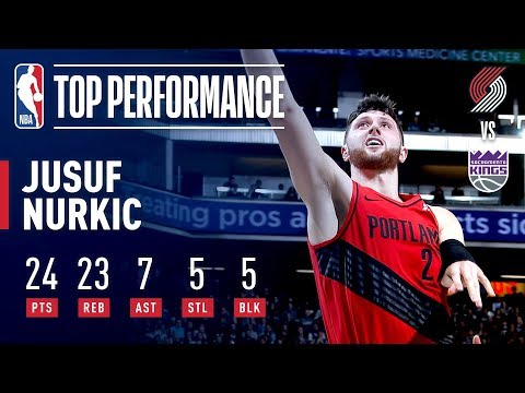 Jusuf Nurkic HISTORIC 5x5 GAME | January 1, 2019