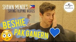 Shawn Mendes Saying Famous Filipino Lines