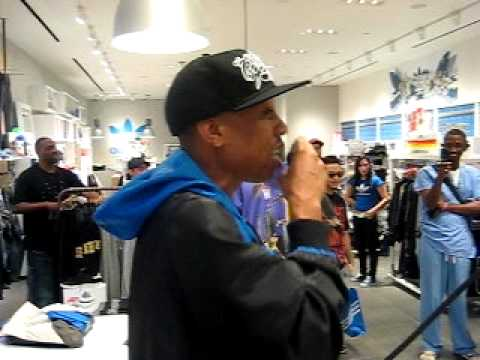 Planet Asia Freestyle @ ADIDAS store w/ Semp on the 1s & 2s