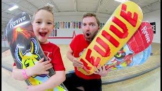 MY SON PICKS MY SKATEBOARD!