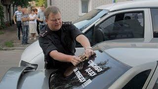 Психолог Нацгвардії їздить на машині з колорадськими стрічками