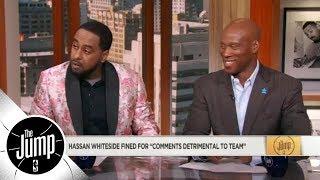Amin Elhassan and Byron Scott: Hassan Whiteside's comments were 'disrespectful' | The Jump | ESPN