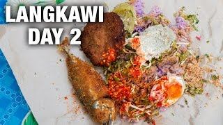 Attractions in Langkawi, Fish Curry, and Nasi Kerabu (Day 2)