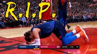 Steven Adams nuts getting destroyed repeatedly
