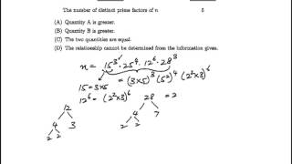 GRE Question#18: Prime Factorization