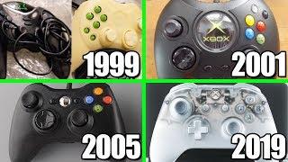 Xbox Controller Evolution - Xbox, Xbox 360, Xbox One (1999-2019)