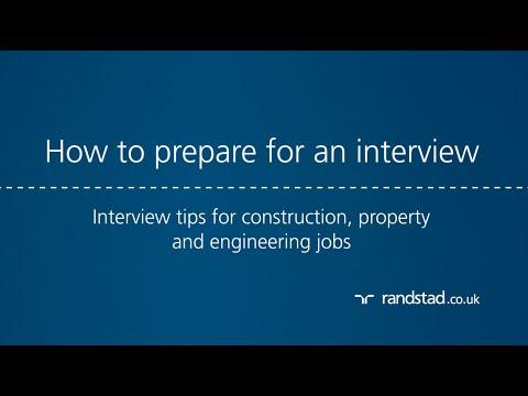 How to prepare for an interview: Interview tips for construction, property and engineering jobs