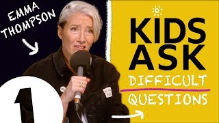 """Meryl Streep's a VERY good snogger!"": Kids Ask Emma Thompson Difficult Questions"