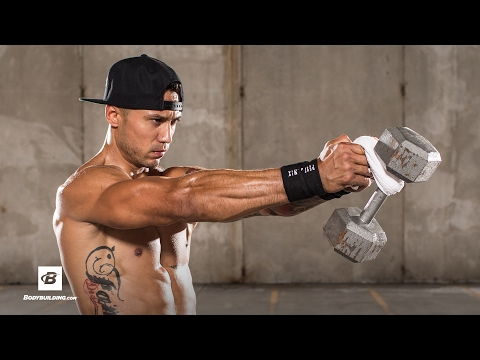How to Front Dumbbell Raise Using a Towel | Mike Vazquez