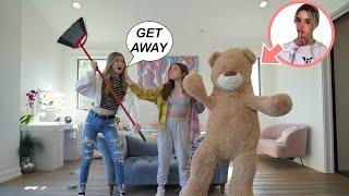 GIANT TEDDY BEAR PRANK on My FRIENDS 🧸 **Shocking Reactions**