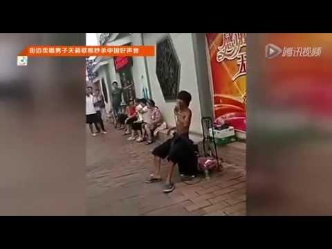 街边卖唱男子(阿龙)天籁歌喉秒杀《中国好声音》