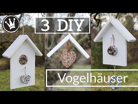 3 DIY VOGELHAUS IDEEN | Vogelhaus selber machen | Futterstation selber bauen | DekoideenReich