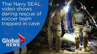 Thai cave rescue: New video captures daring operation to save boys