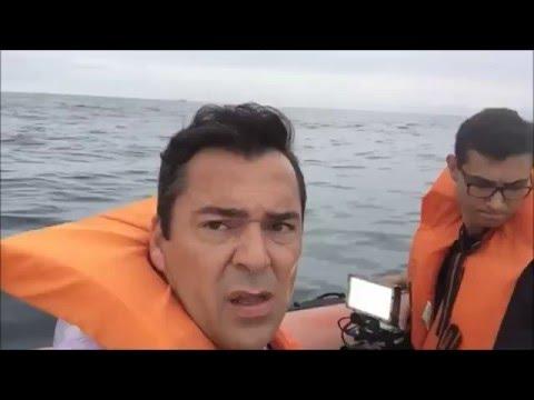 Equipe da RIC TV Record acompanha buscas ao monomotor que caiu em Florianópolis