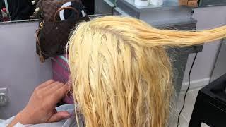 How To Bleach Dark Hair Blonde...in 1 Sitting!