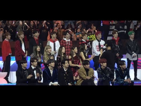 171201 MAMA nct red velvet got7 reaction to EXO power