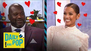"""Shaquille O'Neal Shoots His Shot With """"Daily Pop"""" Guest Host Rocsi 